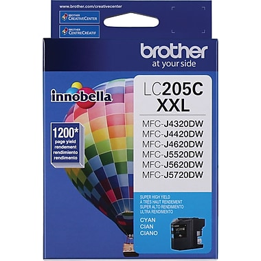Brother – Cartouche d'encre cyan LC205CS, super haut rendement