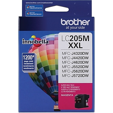Brother LC205MS Magenta Ink Cartridge, Super High-Yield