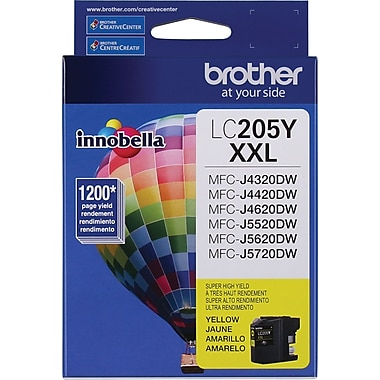 Brother LC205YS Yellow Ink Cartridge, Super High-Yield
