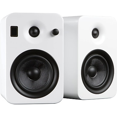 Kanto YUMI Powered Bookshelf Audio System, Matte White