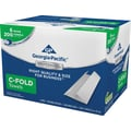 GP Georgia-Pacific Professional Series™ C-Fold Paper Towels, 1-Ply, White, Convenient Size, 6 Packs/Case