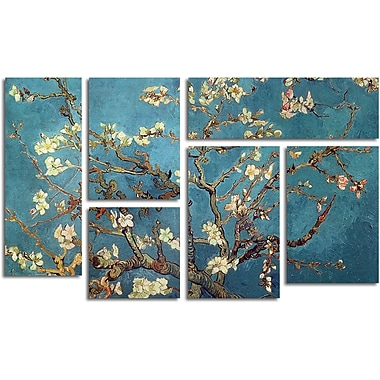 Vincent van Gogh 'Almond Blossoms' Gallery-Wrapped Canvas Art, 6-Panel Set