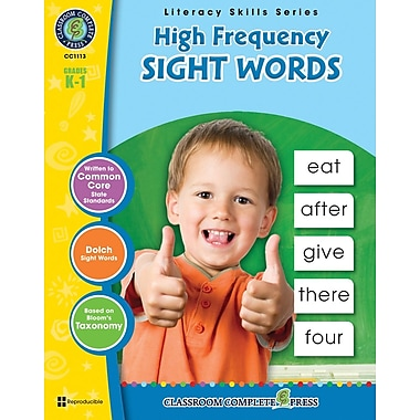eBook: Literacy Skills Series, High Frequency Sight Word, Grades K-1 (PDF version, 1-User Download), ISBN 9781553199120