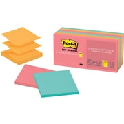 "Post-it® Pop-up Notes, 3"" x 3"", Cape Town Collection, 12 Pads/Pack (R330-12AN)"