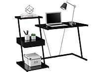 Tribeca Black Glass Desk