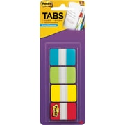 "3M Post-It Tabs, 1""x1 1/2"", Aqua/Lime/Yellow/Red"
