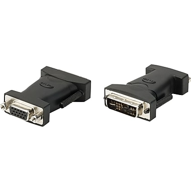 Staples DVI-I Analog Monitor Adapter DVI-I-Male/HDDB15 Female-DVI TO VGA Adapter (26886)