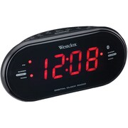 Westclox Bluetooth 1.2 LED Dual Clock Radio with USB Charge Port