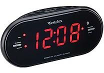 Westclox Bluetooth 1.2' LED Dual Clock Radio with USB Charge Port