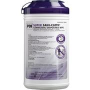 PDI® Super Sani-Cloth®- Germicidal Disposable Wipes (55% alcohol), 65 Wipes/Pk, 6/Ct