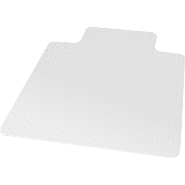 Staples® Flat Pile Carpet Chair Mat, Lip