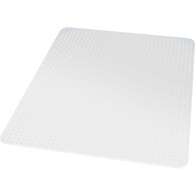 Staples® Flat Pile Carpet Chair Mat, Rectangular