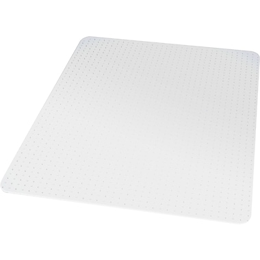 Staples® Medium Pile Carpet Chair Mat, Rectangular