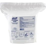 PURELL® Sanitizing Wipes Refill Pouch, 5 in x 8 in., 1,500 Wipes/Pk, 2 Pk/Ct