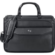Solo Classic Triple Compartment Laptop Briefcase, Black (CLS346-4)