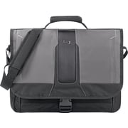 Solo® Pulse Laptop Messenger, Black/Gray, 15.6