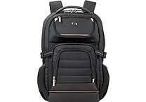 Solo® Pro Collection Backpack with Laptop Compartment and Tablet Pocket, Black, 17.3'