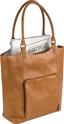 Solo Executive Laptop Bucket Tote Tan VTA810 1