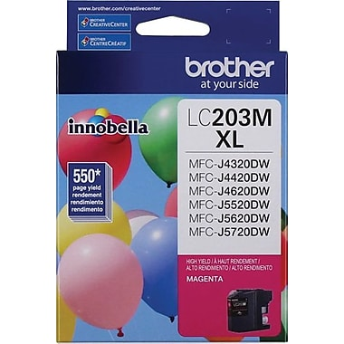 Brother LC203MS Magenta Ink Cartridge, High-Yield