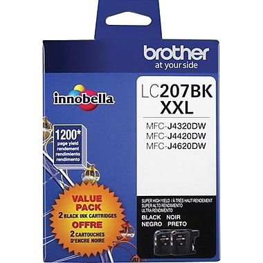 Brother LC2072PKS Black Ink Cartridges, Super High-Yield, 2/Pack