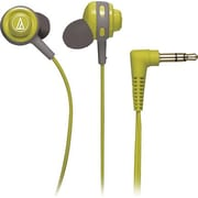 Audio Technica Core Bass In-Ear Headphones, Green