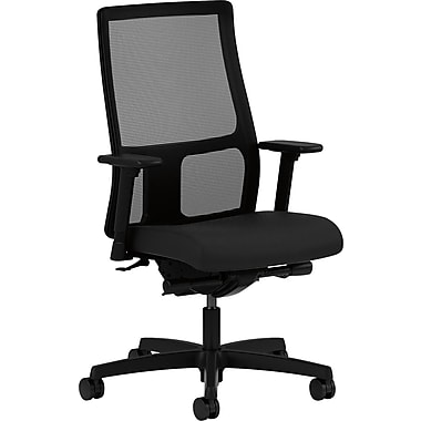 basyx by HON Ignition Fabric Executive Office Chair, Adjustable Arms, Black (HONIW108CU10)