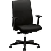 HON® HONIW104CU10 Ignition® Fabric Mid-Back Office Chair with Adjustable Arms, Black