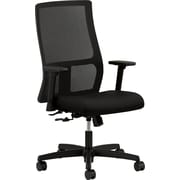 HON Ignition Mid-Back Mesh Task Chair, Adjustable Arms, Black
