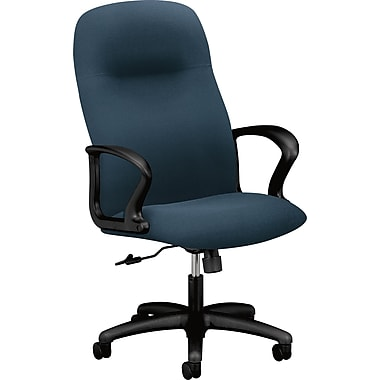 HON® HON2071CU90T Gamut® Fabric Executive High-Back Chair with Fixed Arms, Cerulean