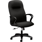 HON® HON2071CU10T Gamut® Fabric Executive High-Back Chair with Fixed Arms, Black