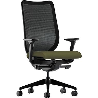 basyx by HON Nucleus Fabric Executive Office Chair, Adjustable Arms, Olivine (HONN103CU82)