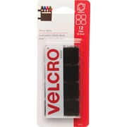"VELCRO® Brand Sticky Back™ Squares 3/4"", Black, 12 sets"