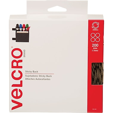 VELCRO® Brand Sticky Back™ Coins 3/4in. Beige, 200 sets