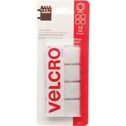 "VELCRO® Brand Sticky Back™ Squares 3/4"", White, 12 sets"