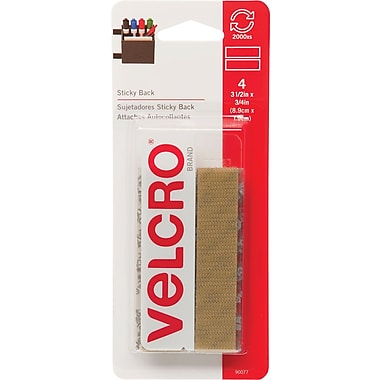 Velcro® 3/4in. x 18in. Sticky Back Tape Strips, Beige