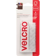 "Velcro® 3/4"" x 3 1/2"" Sticky Back Tape Strips, White"