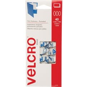 VELCRO® Brand Wafer Thin Pre-Mated Ovals, White, 40 sets