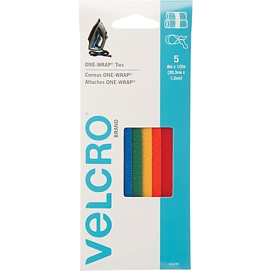 VELCRO® Brand ONE-WRAP® Straps, Assorted, 5/Pack