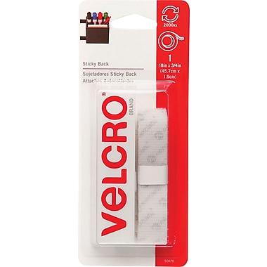 Velcro® 3/4in. x 18in. Sticky Back Tape Strips, White