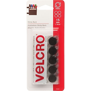Velcro® Sticky Back Sticky Tape, Black, 15/Pack