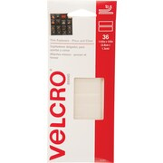 "Velcro® 1 1/2"" x 1/2"" Hook to Hook Fastener, Clear, 36/Pack"