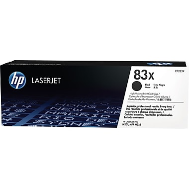HP 83X (CF283X) Black High Yield Original LaserJet Toner Cartridge