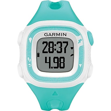 Garmin Forerunner® 15 Fitness Watch, Teal/White, Small