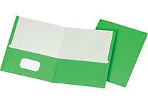 Staples School Grade 2 Pocket Folder, Green, 25/Box (50753/27533-CC)
