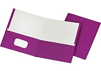 Staples® School Grade 2 Pocket Folder, Purple, 25/Box