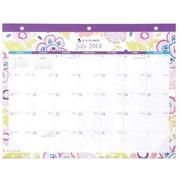 AT-A-GLANCE® Good Vibrations Academic Deskpad Calendar, 22 x 17, 2014-2015