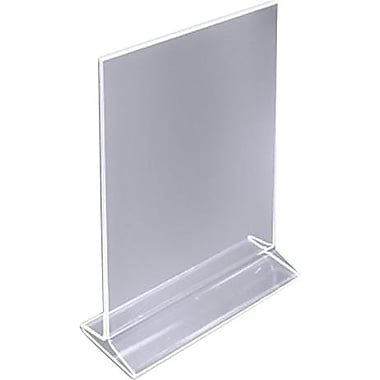 11in. x 8 1/2in. Acrylic Top-Loading Sign Holder, Crystal Clear