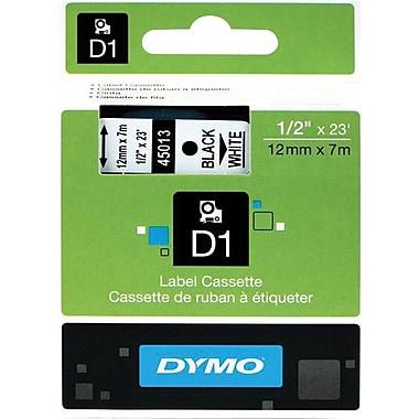 DYMO® - Ruban d'étiquettes D1, 12 mm (1/2 po), noir sur blanc