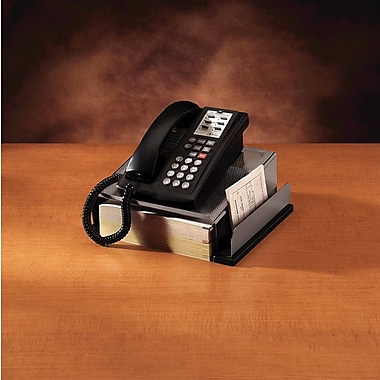 Rolodex™ Distinctions Punched Metal & Wood Phone Stand