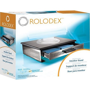 Rolodex™ Distinctions Punched Metal & Wood Monitor Stand